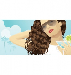 summer beauty vector image