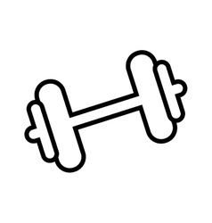 weight lifting gym accesory icon vector image vector image