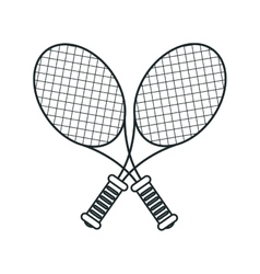 Isolated racket and ball of tennis design vector