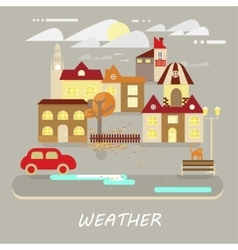 Small town landscape vector