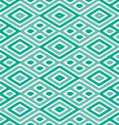 Emerald and jade diamond ikat vector