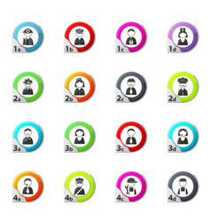 Occupation and people icons set vector