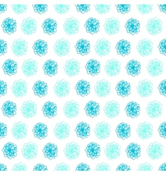 Summer seamless background with flower polka dots vector