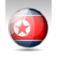 North korean flag emblem vector