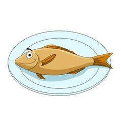 Fish on a platter vector