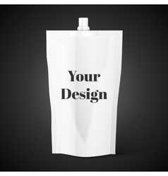 Blank spout pouch bag foil or plastic packaging vector