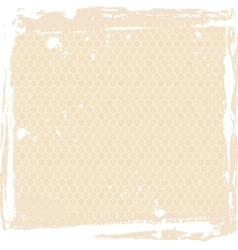 Abstract grunge frame beige background template vector