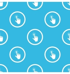 Hand cursor sign blue pattern vector
