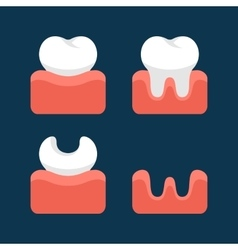 Teeth icons set for dental design vector