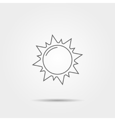 Sun linear icon vector