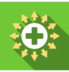 Pharmacy distribution flat long shadow square icon vector