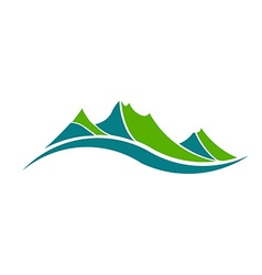 Green mountains logo vector image