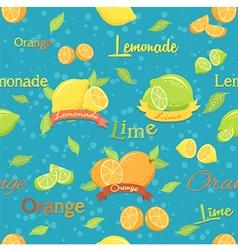 Citrus seamless pattern blue vector