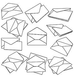Post envelopes vector image