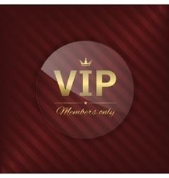 VIP glass label vector image