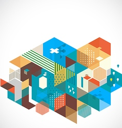 Abstract colorful and creative geometric template vector image