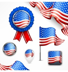 American national symbols vector image