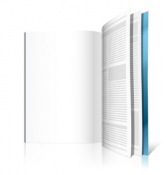 blank magazine page vector image