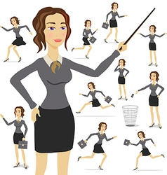 Business woman business suit adult female person vector