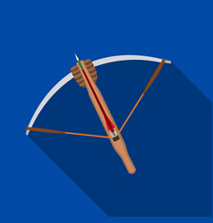 Crossbow icon flate single weapon icon from the vector
