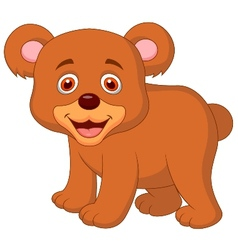Cute baby bear cartoon vector