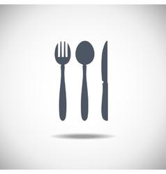 Cutlery symbol vector image vector image