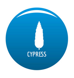 Cypress tree icon blue vector