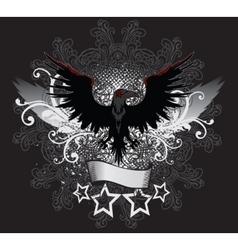 Dark raven emblem vector