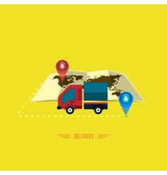 Delivery service 24 hours cargo truck symbol vector