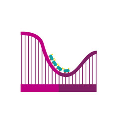 flat roller coaster icon vector image