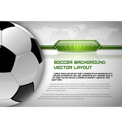 Football world gray layout vector