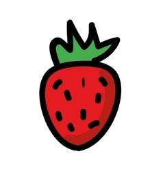 fresh strawberry isolated icon design vector image