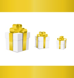 gift box ribbon yellow v vector image