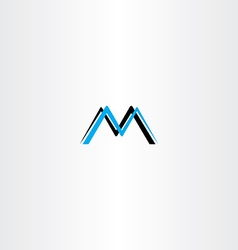 Letter m cyan black logo icon vector