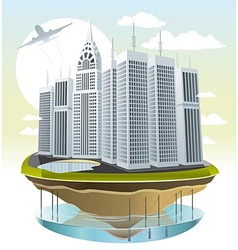 Modern city vector image vector image