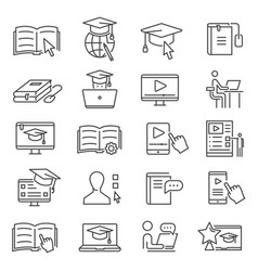 Online learning icon vector