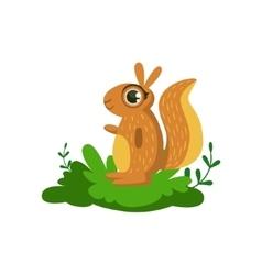 Squirrel friendly forest animal vector