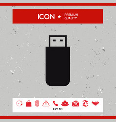 usb flash memory drive icon vector image vector image
