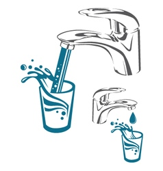 Water tap image vector