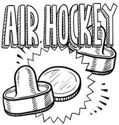 Air hockey vector