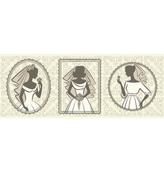 Vintage wedding lady vector image