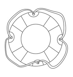 Sketch contour flotation hoop with rope vector