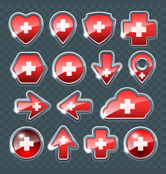 Set of the different icons vector