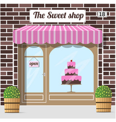 sweet shop candy store confectionery store vector image