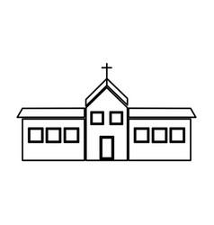 Christian church building religion concept vector