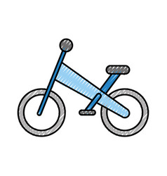 Bicycle mountain isolated icon vector