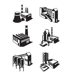 Types of industrial construction vector