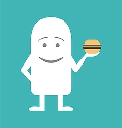 Animated personality gourmand man vector