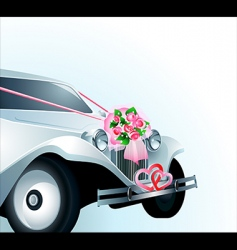 Wedding car card vector