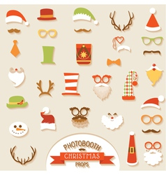 Christmas retro party set vector